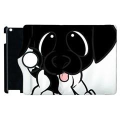 Newfie Cartoon Black White Apple iPad 2 Flip 360 Case by TailWags