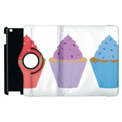 Cupcakes Apple iPad 2 Flip 360 Case by TailWags
