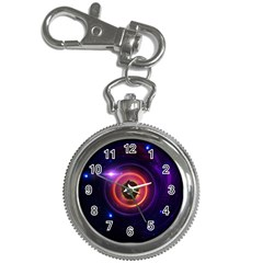The Little Astronaut On A Tiny Fractal Planet Key Chain Watches by beautifulfractals