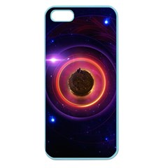 The Little Astronaut On A Tiny Fractal Planet Apple Seamless Iphone 5 Case (color) by beautifulfractals