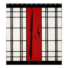 Shoji   Bamboo Shower Curtain 66  X 72  (large)  by RespawnLARPer