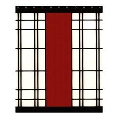 Shoji   Red Shower Curtain 60  X 72  (medium)  by RespawnLARPer
