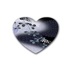 Abstract Black And Gray Tree Heart Coaster (4 Pack)  by BangZart