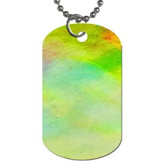 Abstract Yellow Green Oil Dog Tag (two Sides) by BangZart