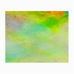Abstract Yellow Green Oil Small Glasses Cloth by BangZart