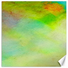 Abstract Yellow Green Oil Canvas 16  X 16   by BangZart