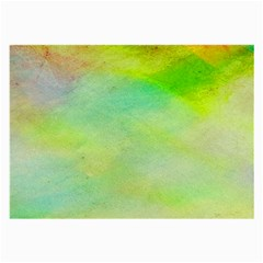 Abstract Yellow Green Oil Large Glasses Cloth (2 Side) by BangZart
