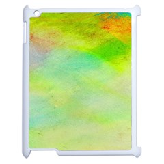 Abstract Yellow Green Oil Apple Ipad 2 Case (white) by BangZart