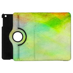 Abstract Yellow Green Oil Apple Ipad Mini Flip 360 Case by BangZart