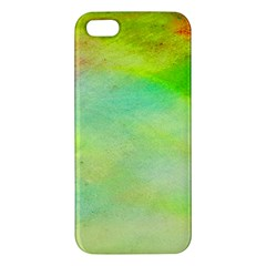 Abstract Yellow Green Oil Iphone 5s/ Se Premium Hardshell Case by BangZart