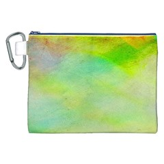 Abstract Yellow Green Oil Canvas Cosmetic Bag (xxl) by BangZart