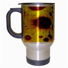 Beautiful Sunflowers Travel Mug (silver Gray) by BangZart