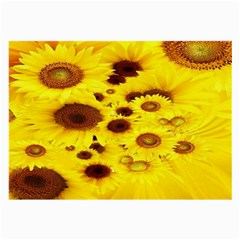 Beautiful Sunflowers Large Glasses Cloth (2 Side) by BangZart