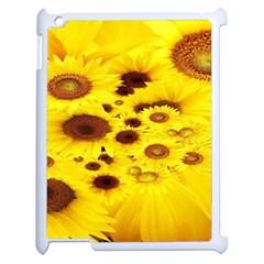 Beautiful Sunflowers Apple Ipad 2 Case (white) by BangZart