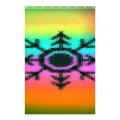 Vector Snowflake Shower Curtain 48  X 72  (small)  by BangZart