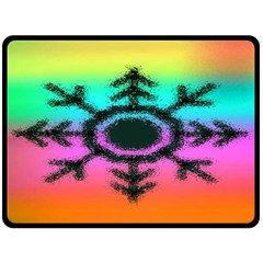 Vector Snowflake Double Sided Fleece Blanket (large)  by BangZart