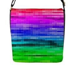 Pretty Color Flap Messenger Bag (l)  by BangZart