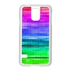 Pretty Color Samsung Galaxy S5 Case (white) by BangZart
