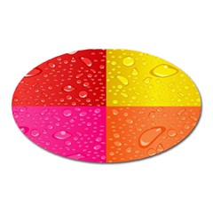 Color Abstract Drops Oval Magnet by BangZart