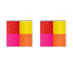 Color Abstract Drops Cufflinks (square) by BangZart