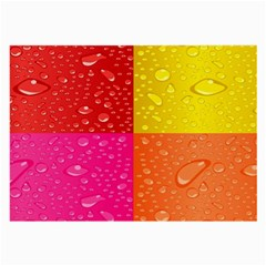 Color Abstract Drops Large Glasses Cloth (2 Side) by BangZart