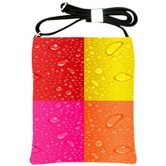 Color Abstract Drops Shoulder Sling Bags by BangZart