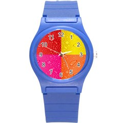 Color Abstract Drops Round Plastic Sport Watch (s) by BangZart
