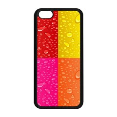 Color Abstract Drops Apple Iphone 5c Seamless Case (black) by BangZart