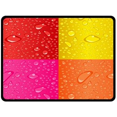 Color Abstract Drops Double Sided Fleece Blanket (large)  by BangZart