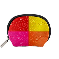 Color Abstract Drops Accessory Pouches (small)  by BangZart