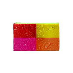 Color Abstract Drops Cosmetic Bag (xs) by BangZart
