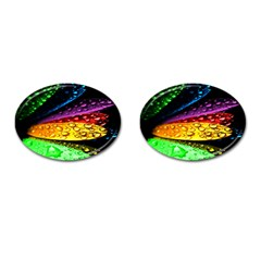 Abstract Flower Cufflinks (oval) by BangZart