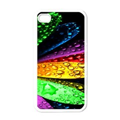 Abstract Flower Apple Iphone 4 Case (white) by BangZart