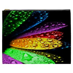 Abstract Flower Cosmetic Bag (xxxl)  by BangZart