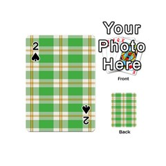 Abstract Green Plaid Playing Cards 54 (mini)  by BangZart
