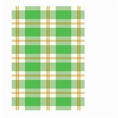 Abstract Green Plaid Large Garden Flag (two Sides) by BangZart