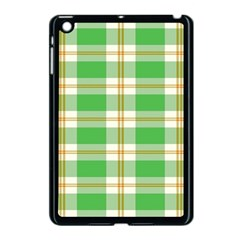 Abstract Green Plaid Apple Ipad Mini Case (black)