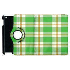 Abstract Green Plaid Apple Ipad 2 Flip 360 Case by BangZart