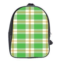 Abstract Green Plaid School Bags (xl)  by BangZart