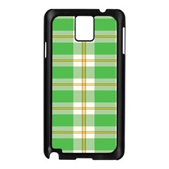 Abstract Green Plaid Samsung Galaxy Note 3 N9005 Case (black) by BangZart