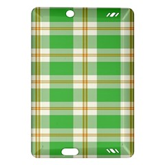 Abstract Green Plaid Amazon Kindle Fire Hd (2013) Hardshell Case by BangZart