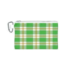 Abstract Green Plaid Canvas Cosmetic Bag (s) by BangZart