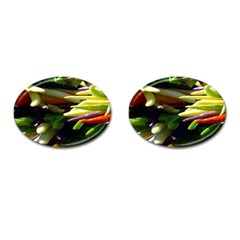 Bright Peppers Cufflinks (oval) by BangZart