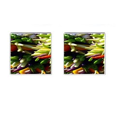 Bright Peppers Cufflinks (square) by BangZart