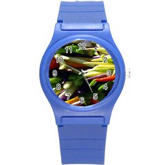 Bright Peppers Round Plastic Sport Watch (s) by BangZart