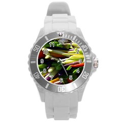 Bright Peppers Round Plastic Sport Watch (l) by BangZart