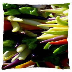 Bright Peppers Large Cushion Case (one Side) by BangZart