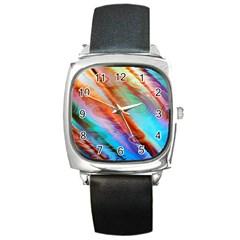 Cool Design Square Metal Watch by BangZart