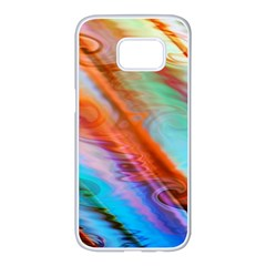 Cool Design Samsung Galaxy S7 Edge White Seamless Case by BangZart