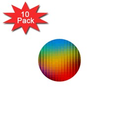 Blurred Color Pixels 1  Mini Buttons (10 Pack)  by BangZart